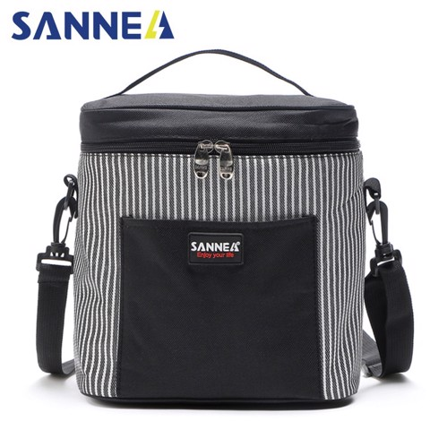 Túi đựng hộp cơm giữ nhiệt Sannea CL1400-2 size M Đen