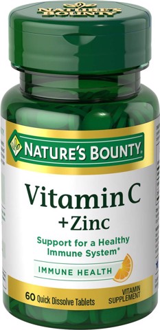 Nature's Bounty Vitamin C with Zinc Supplement