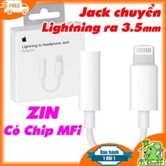 Jack chuyển Tai Nghe iPhone X/XS/7/8 ZIN- Lightning to 3.5mm Adapter