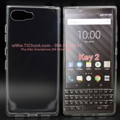 Ốp lưng BlackBerry KeyTwo Key2 Silicon Loại Tốt Dẻo Trong suốt