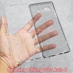 Ốp lưng Samsung Note 8 dẻo trong suốt chống sốc
