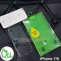 Ốp lưng iPhone 7/ iPhone 8 OuCase Dẻo trong suốt