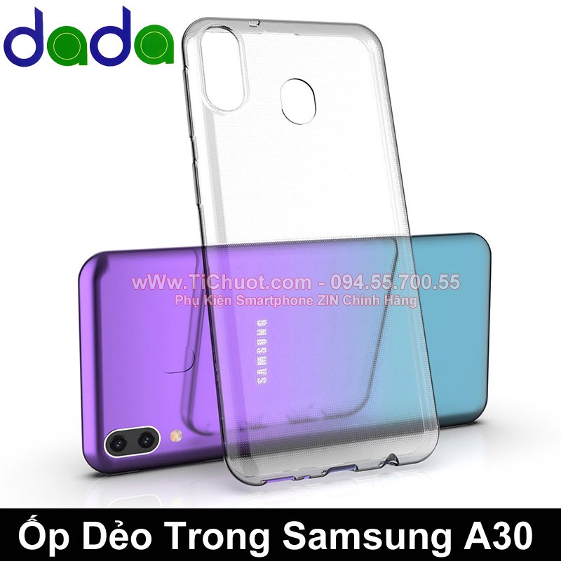 Ốp lưng Samsung A30 Dada Dẻo trong suốt