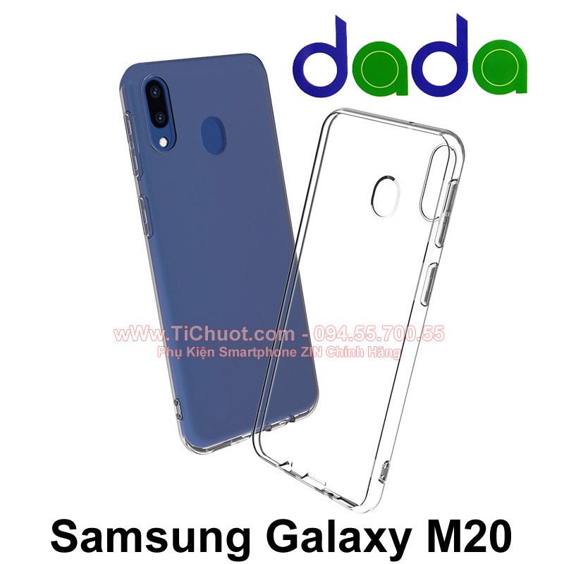 Ốp lưng Samsung M20 Dada Dẻo trong suốt