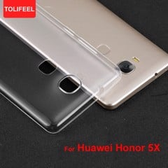 Ốp lưng Huawei GR5 (Honor 5X) Silicon Dẻo Loại Tốt trong suốt