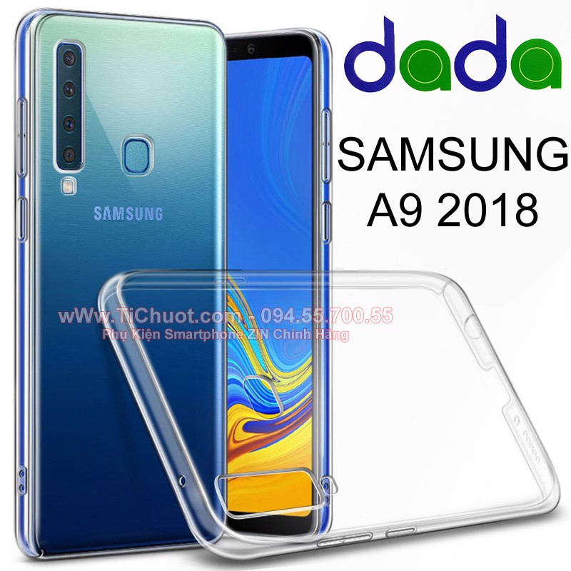 Ốp lưng Samsung A9 2018 Dada Dẻo trong suốt