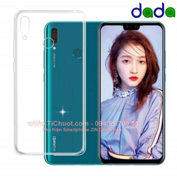 Ốp lưng Huawei Y9 2019 Dada Dẻo trong suốt