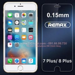 Kính CL iPhone 7 Plus/ 8 Plus Remax mỏng 0.15mm - KO FULL, 9H-2.5D