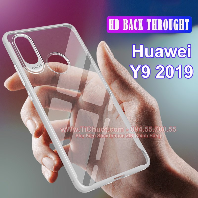 Ốp lưng Huawei Y9 2019 dẻo trong suốt chống sốc Focus Case