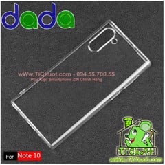 Ốp lưng Samsung Note 10 Dada Dẻo trong suốt