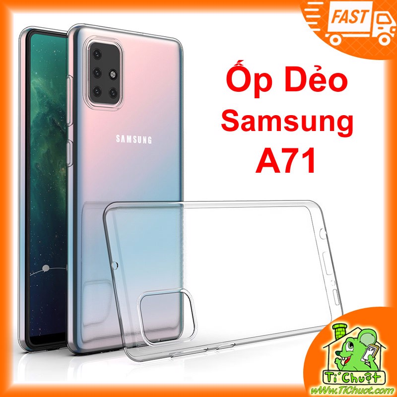 Ốp lưng Samsung A71 Silicon Loại Tốt Dẻo trong suốt