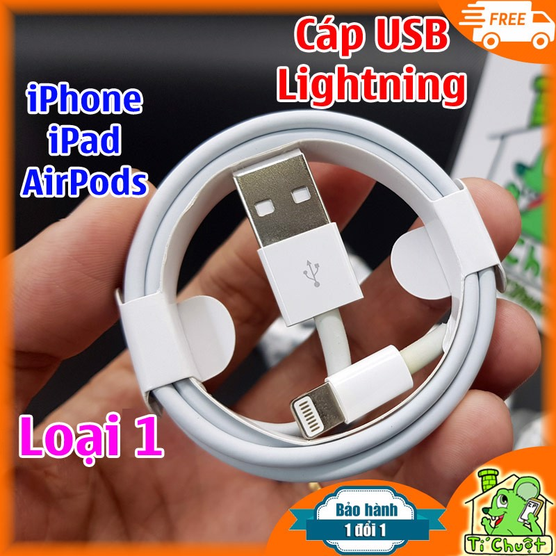 Cáp Lightning iPhone, iPad, AirPods Foxconn Loại 1 (Copy 1:1)