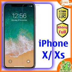 Kính CL iPhone X/ XS - KO FULL, 9H-0.26mm