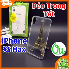 Ốp lưng iPhone XS MAX OuCase Dẻo trong suốt