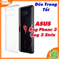 Ốp lưng Asus ROG Phone 3 ZS661KS Silicon Loại Tốt Dẻo trong suốt