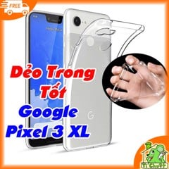 Ốp lưng Google Pixel 3 XL Silicon Loại Tốt Dẻo Trong Suốt