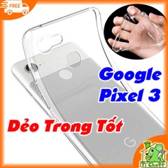 Ốp lưng Google Pixel 3 Silicon Loại Tốt Dẻo Trong Suốt