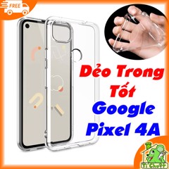 Ốp lưng Google Pixel 4A Silicon Loại Tốt Dẻo Trong Suốt