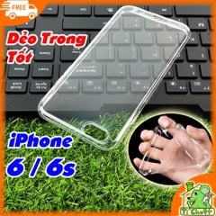 Ốp lưng iPhone 6 6s Silicon Loại Tốt Dẻo Trong Suốt