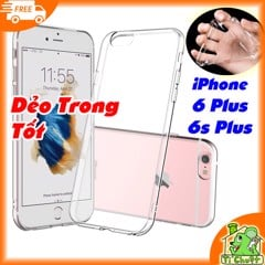 Ốp lưng iPhone 6 Plus/ 6s Plus Silicon Loại Tốt Dẻo Trong Suốt