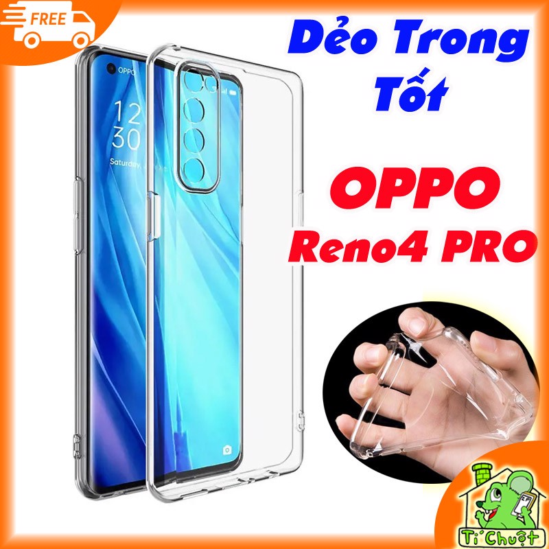 Ốp lưng OPPO Reno4 PRO Silicon Loại Tốt Dẻo Trong Suốt