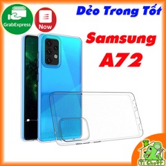 Ốp lưng Samsung A72 4G/5G Silicon Loại Tốt Dẻo Trong Suốt