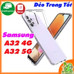 Ốp lưng Samsung A32 4G/ A32 5G Silicon Loại Tốt Dẻo Trong Suốt