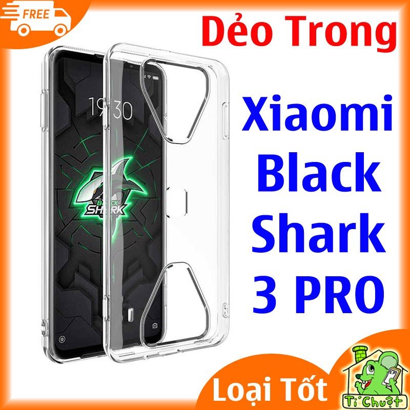 Ốp lưng Xiaomi Black Shark 3 PRO Silicon Dẻo Trong Suốt Loại Tốt