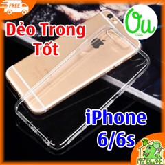 Ốp lưng iPhone 6 6s OuCase Dẻo Trong Suốt