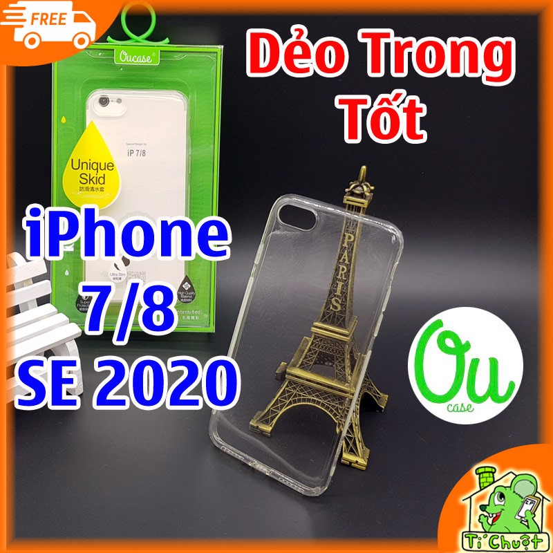 Ốp lưng iPhone 7/ 8/ SE 2020 OuCase Dẻo trong suốt
