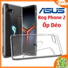 Ốp lưng Asus ROG Phone 2 ZS660KL Silicon Loại Tốt Dẻo trong suốt