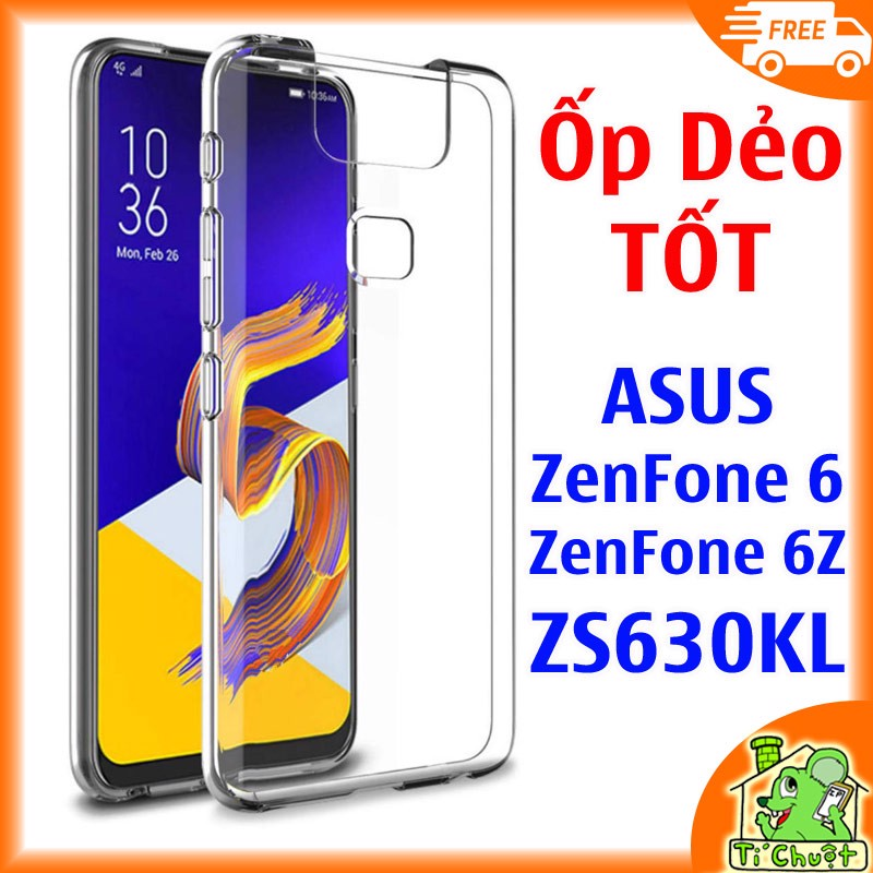 Ốp lưng ASUS ZenFone 6 6Z ZS630KL Silicon Loại Tốt Dẻo trong suốt