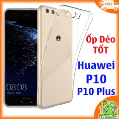 Ốp lưng Huawei P10/ P10 Plus Silicon Loại Tốt Dẻo trong suốt