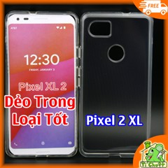 Ốp lưng Google Pixel 2 XL Silicon Loại Tốt Dẻo Trong Suốt