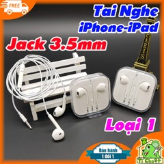 Tai nghe EarPods jack 3.5mm iPhone 5s/ 6/ 6s Plus (Foxconn Loại 1)