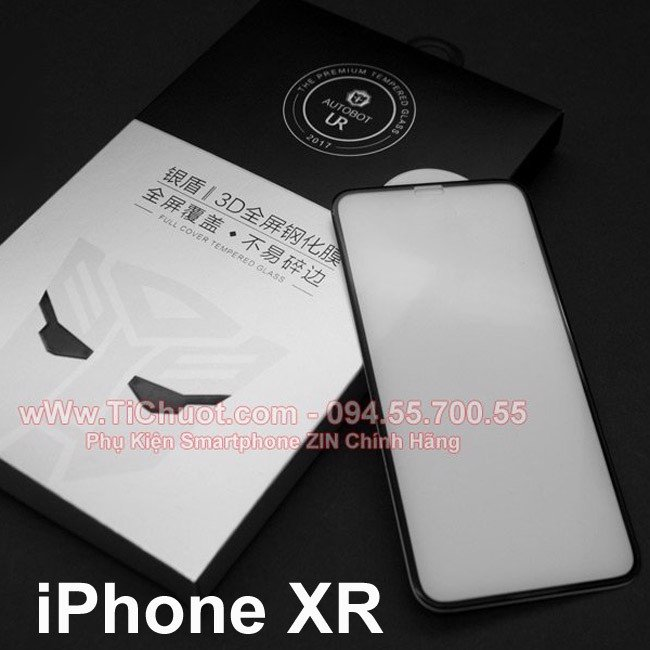 Kính CL iPhone 11/ XR Autobot UR FULL Trong suốt 0.2mm