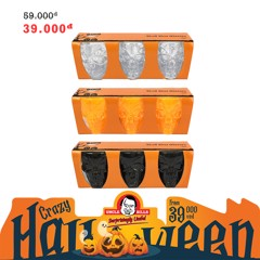 Ly rượu đàu lâu  Halloween Uncle Bills UH00140