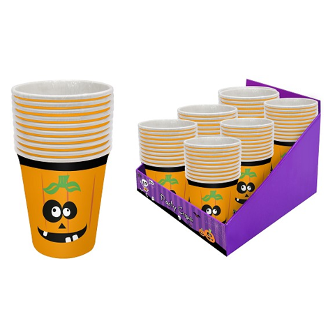 Pumpkin - Party Cups 250 Ml 12 Pk