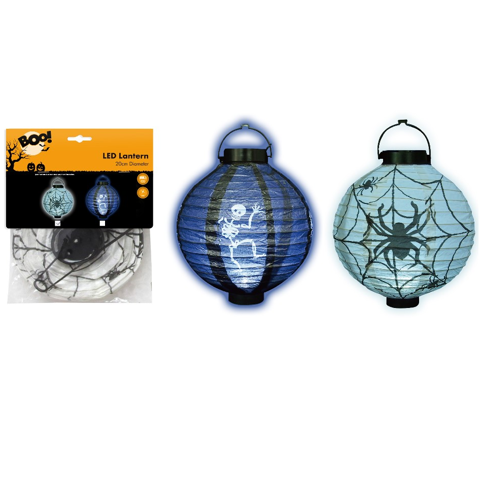 Light Up Paper Lantern 20 Cm - 2 Assorted - Mixed
