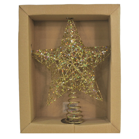 GLITTER STAR TOPPER 30cm GOLD Uncle Bills XD0123
