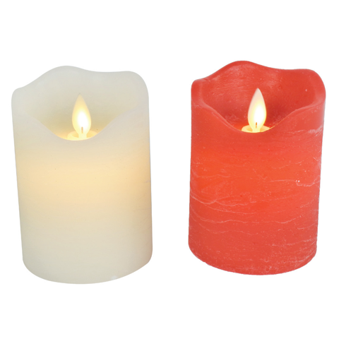 LED CANDLE FLICKER FLAME 10cm 2asst Uncle Bills XD0299