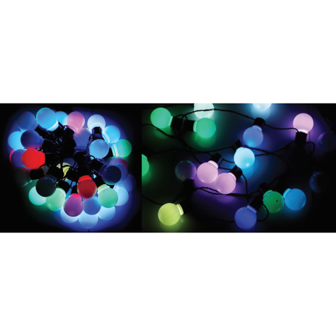 LED PARTY GLOBE LIGHTS 40 COL-CHNGE RGB Uncle Bills XB4885