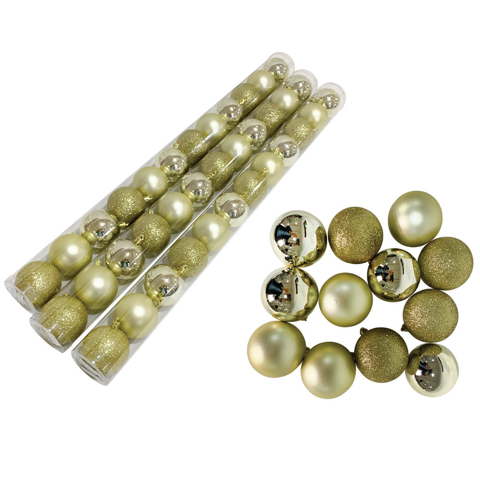 BAUBLES TUBE 12pc 60mm CHAMPAGNE Uncle Bills XD0246