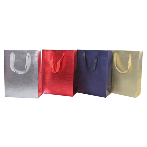 GIFTBAG EMBOSSED METALLIC M 4asst Uncle Bills XP0030
