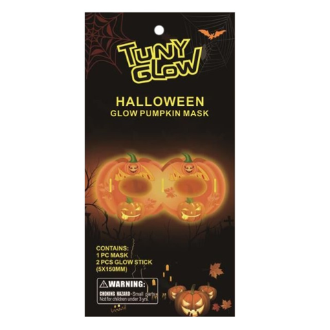 Glow Eye Mask - Pumpkin