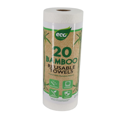 BAMBOO REUSABLE TOWEL 20 SHTS