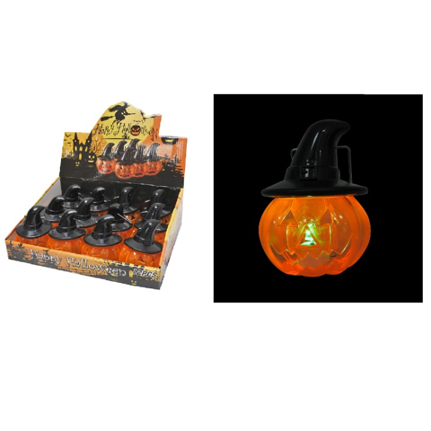 Light Up Pumpkin Lantern - 4 Assorted