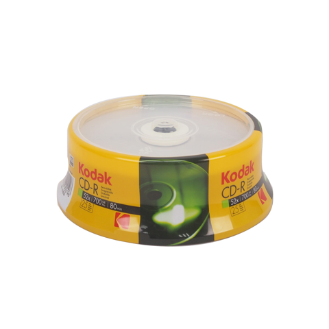kodak cd r 12x 700mb 25 pk cakebox