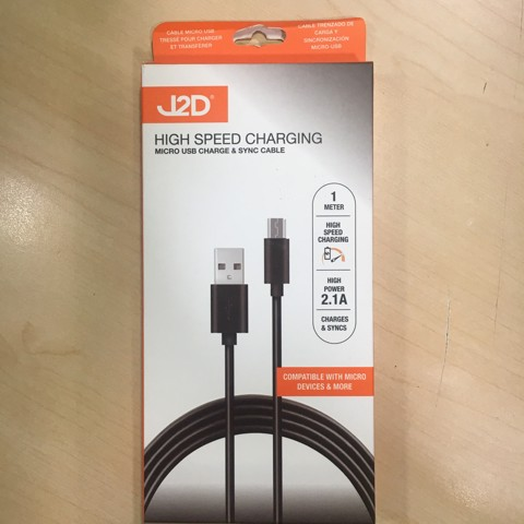 MICRO USB TO USB CABLE 1M