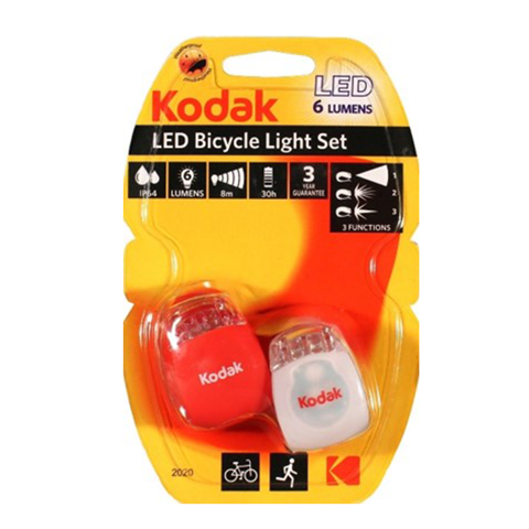 kodak bicycle light 2 pack   1 red & 1 white